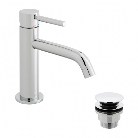 Product Photograph for an Origins Slimline Mono Basin Mixer Tap with Universal Basin Waste
