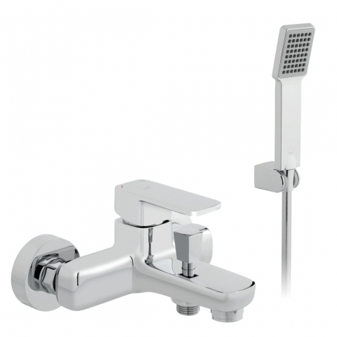 Product Photograph for a Phase Wall Mounted Bath Shower Mixer Tap with Shower Kit