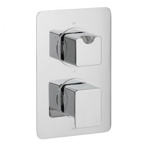 Product Photograph for a DX Phase 3 Outlet 2 Handle Concealed Thermostatic Shower Valve