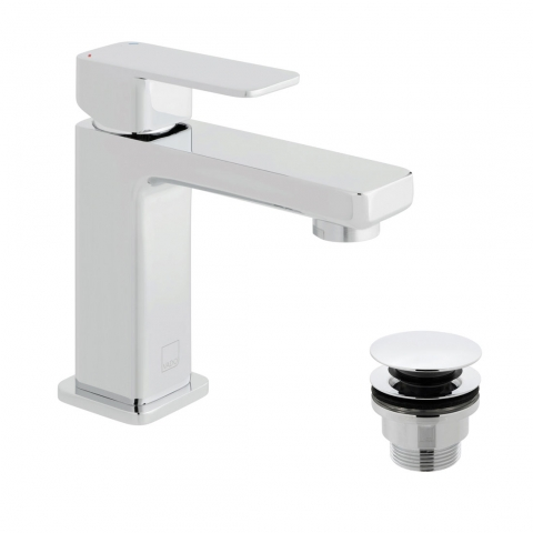 Product Photograph for a Phase Mini Mono Basin Mixer Tap with Universal Basin Waste