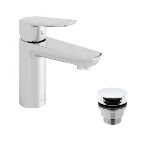 Product Photograph for a Photon Mono Basin Mixer Tap with Universal Waste