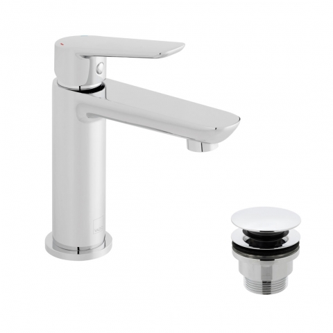 Product Photograph for a Photon Mini Mono Basin Mixer Tap with Universal Basin Waste