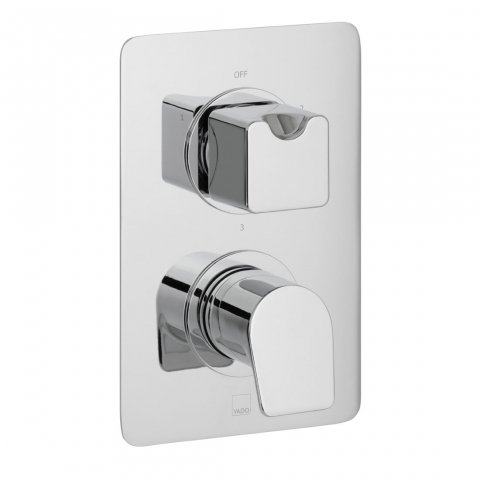 Product Photograph for a DX Photon 3 Outlet 2 Handle Thermostatic Shower Valve
