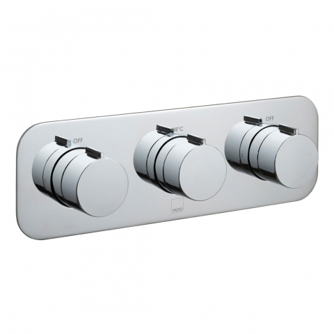 Product Photograph for a Tablet Altitude Horizontal 2 Outlet 3 Handle Concealed Thermostatic Shower Valve