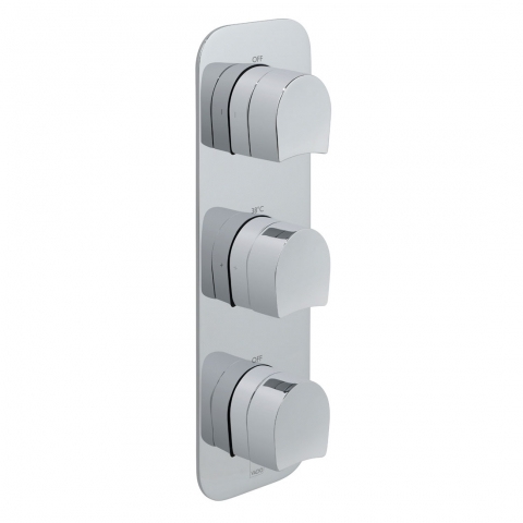 Product Photograph for a Tablet Kovera 2 Outlet 3 Handle Concealed Thermostatic Shower Valve