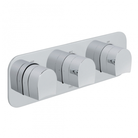 Product Photograph for a Tablet Kovera Horizontal 3 Outlet 3 Handle Concealed Thermostatic Shower Valve