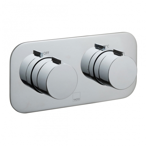 Product Photograph for a Tablet Altitude Horizontal 2 Outlet 2 Handle Concealed Thermostatic Shower Valve
