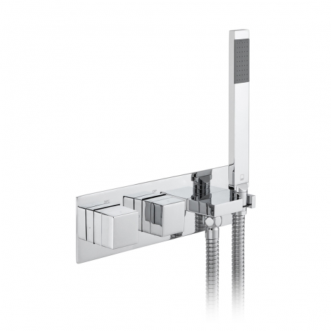 2 Outlet Thermostatic Valve w/ Kit