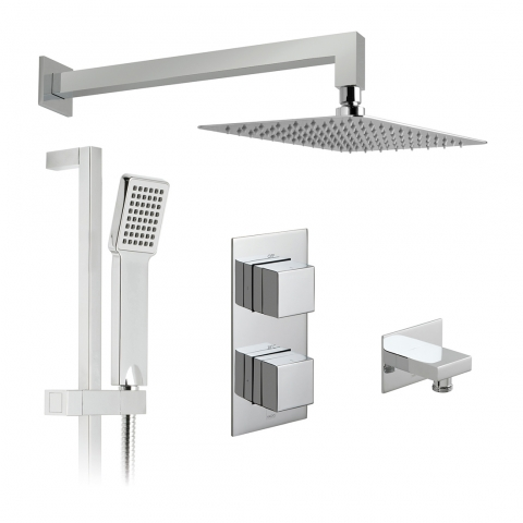 2 Outlet Thermostatic Shower Set
