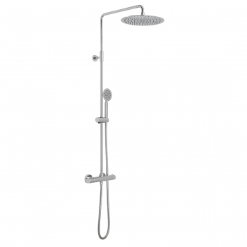 Product Photograph for an Aquablade Round Thermostatic Shower Column