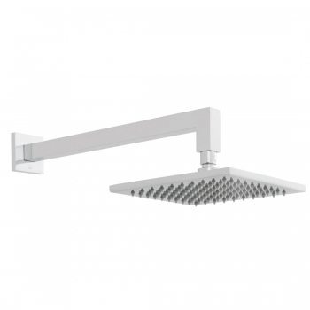 Product Photograph for an Atmosphere Square Air Injection Shower Head with Shower Arm