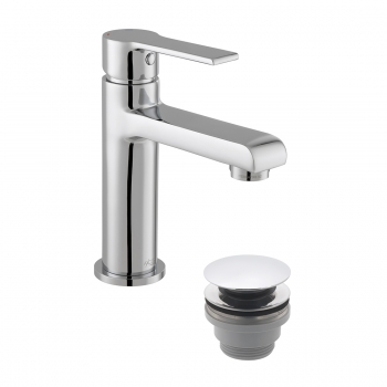 Product Photograph for an Axces by VADO Irlo Mini Mono Basin Mixer Tap with Push Waste