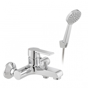 Product Photograph for an Axces by VADO Irlo Wall Mounted Bath Shower Mixer with Shower Kit
