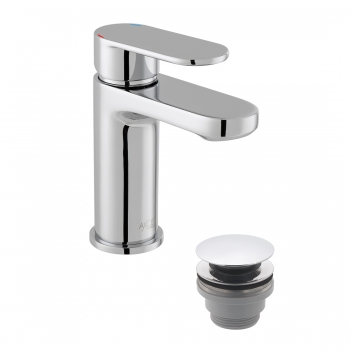 Product Photograph for an Axces by VADO Metiz Mono Basin Mixer with Push Waste