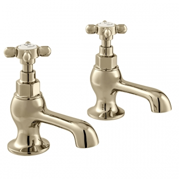 Product Photograph for a pair of BOOTH & Co. Axbridge Basin Pillar Taps