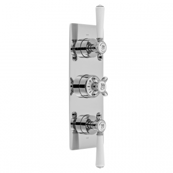 Product Photograph for a BOOTH & Co. Axbridge 2 Outlet 3 Handle Concealed Thermostatic Shower Valve