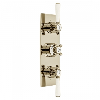 Product Photograph for a BOOTH & Co. Axbridge 3 Outlet 3 Handle Concealed Thermostatic Shower Valve