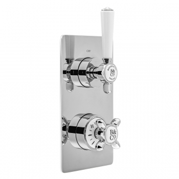 Product Photograph for a BOOTH & Co. Axbridge 2 Outlet 2 Handle Concealed Thermostatic Shower Valve