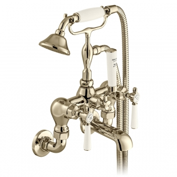 Product Photograph for a BOOTH & Co. Axbridge Wall Mounted Bath Shower Mixer with Shower KIt
