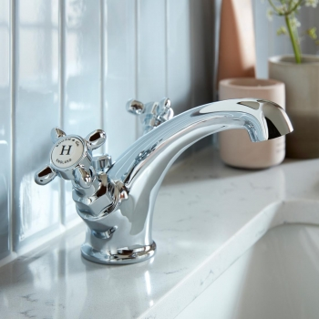 Lifestyle Photograph featuring a BOOTH & Co. Axbridge Mono Basin Mixer Tap with Pop-up Waste