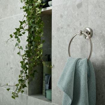 Lifestyle Photograph of a BOOTH & Co. Axbridge Towel Ring