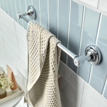 Lifestyle Photograph of a BOOTH & Co. Axbridge Towel Rail