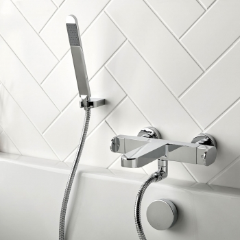 Lifestyle Photograph for a Life Wall Mounted Thermostatic Bath Shower Mixer with Shower Kit