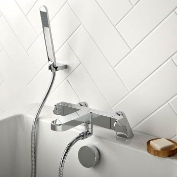 Lifestyle Photograph for a Life Thermostatic Bath Shower Mixer with Shower Kit