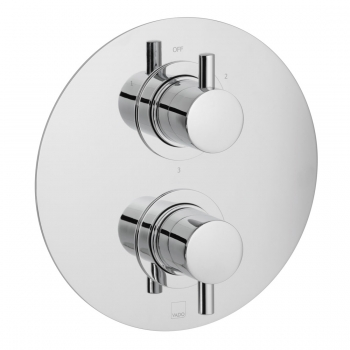Product Photograph for a DX Celsius Round 3 Outlet 2 Handle Thermostatic Shower Valve