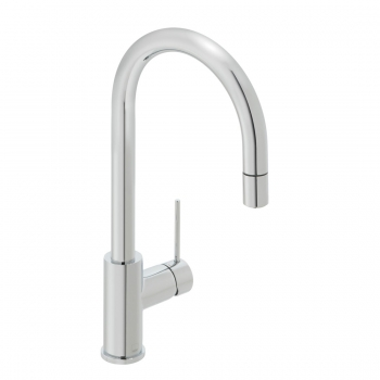 Product Photograph for a Zoo Curve Kitchen Sink Mixer Tap