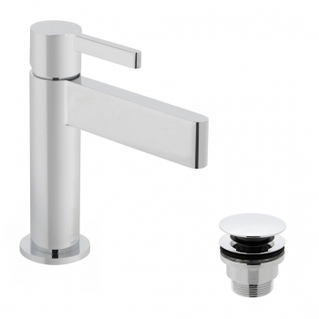 Product Photograph for an Edit Mono Basin Mixer Tap with Universal Waste