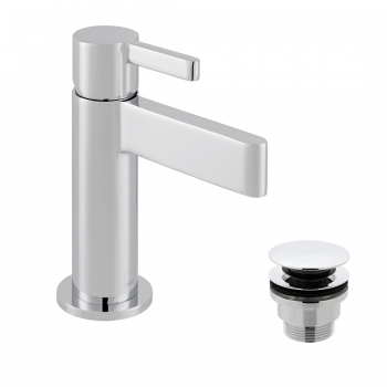 Product Photograph for an Edit Mini Mono Basin Mixer with Universal Basin Waste