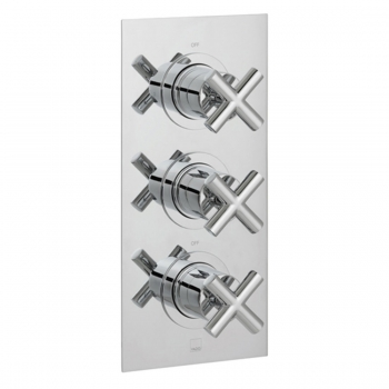 Product Photograph for a DX Elements 2 Outlet 3 Handle Concealed Thermostatic Shower Valve