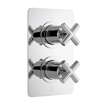 Product Photograph for a DX Elements 3 Outlet 2 Handle Square Concealed Thermostatic Shower Valve