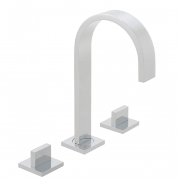 Product Photograph for a Geo Deck Mounted 3 Hole Basin Mixer Tap