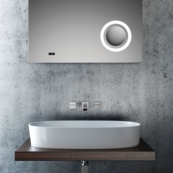 Lifestyle Photograph Featuring a Geo Wall Mounted Basin Mixer Tap