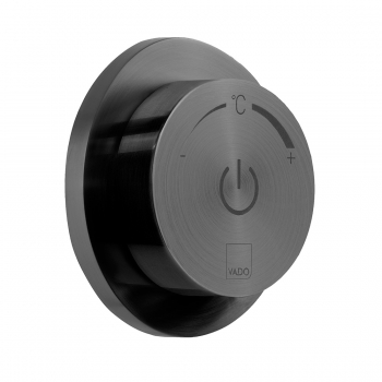 Product Photograph for an Individual by VADO Brushed Black Sensori SmartDial 1 Outlet Control