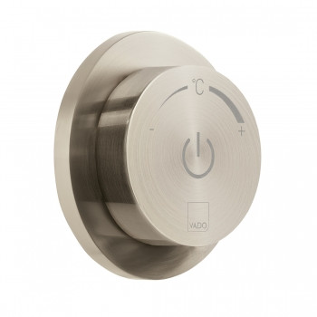 Product Photograph for an Individual by VADO Brushed Nickel Sensori SmartDial 1 Outlet Digital Control