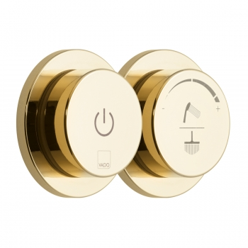 Product Photograph for an Individual by VADO Bright Gold Sensori SmartDial 2 Outlet Digital Shower Control
