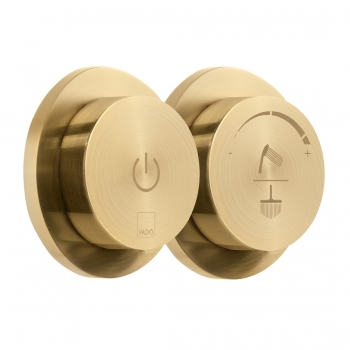 Product Photograph for an Individual by VADO Brushed Gold Sensori SmartDial 2 Outlet Shower Control