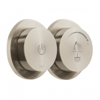 Product Photograph for an Individual by VADO Brushed Nickel Sensori SmartDial 2 Outlet Digital Shower Control