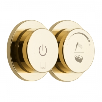 Product Photograph for an Individual by VADO Bright Gold Sensori SmartDial 2 Outlet Shower/Bath Control