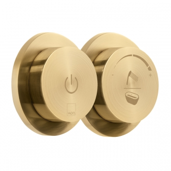 Product Photograph for an Individual by VADO Brushed Gold Sensori SmartDial 2 Outlet Shower/Bath Control