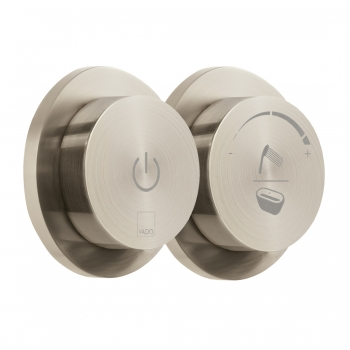 Product Photograph for an Individual by VADO Brushed Nickel Sensori SmartDial 2 Outlet Shower/Bath Control