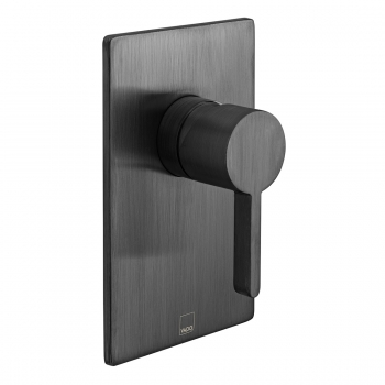 Product Photograph Featuring an Individual by VADO Brushed Black Edit Manual Valve