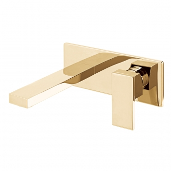 Product Photograph for an Individual by VADO Bright Gold Notion Wall Mounted Basin Mixer Tap