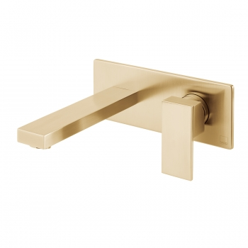 Product Photograph for an Individual by VADO Brushed Gold Notion Wall Mounted Basin Mixer Tap