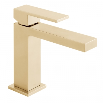 Product Photograph for an Individual by VADO Brushed Gold Notion Slimline Mono Basin Mixer Tap