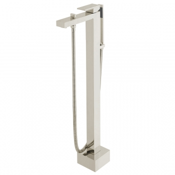 Product Photograph for an Individual by VADO Brushed Nickel Notion Floor Standing Bath Shower Mixer with Shower Kit