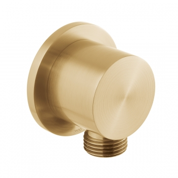 Product Photograph for an Individual by VADO Brushed Gold Round Wall Outlet